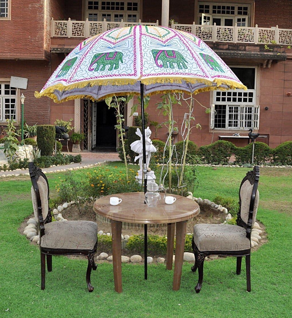 Exterior Decorativa paraguas parasol sombrilla de jardín grande 133 x 183 cm: Amazon.es: Hogar