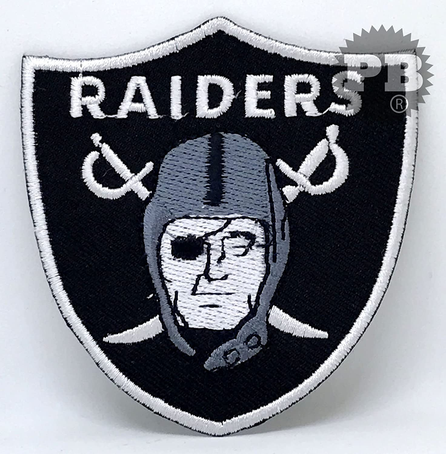#134 The Oakland Raiders Iron Sew On Embroidered Patch Embrologos