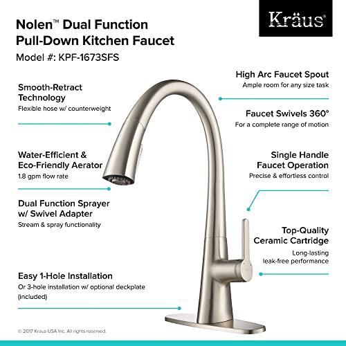 KRAUS Nolen Spot Free Kitchen Faucet Review