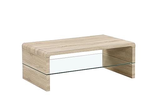 Cavadore Couchtisch Fred / Moderner, niedriger Tisch mit ...