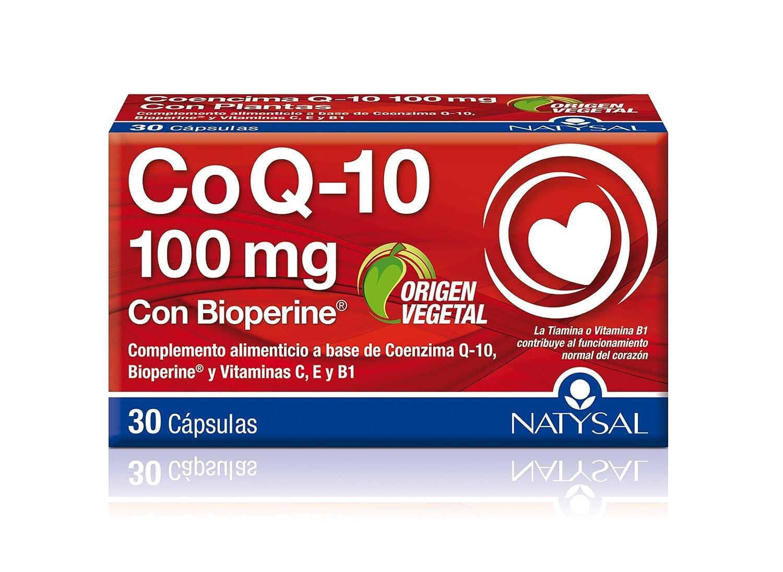 NATYSAL - COENZIMA Q10 100mg 30cap NATYSAL: Amazon.es: Salud y cuidado personal