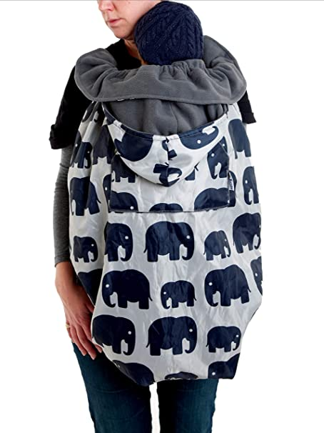 Grey Elephant BundleBean Babywearing:All-Weather Waterproof Sling and Carrier Cover
