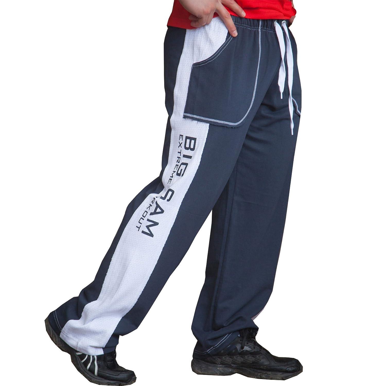 BIG SM EXTREME SPORTSWEAR Herren Bodyhose Jogginghose Sporthose Bodybuilding 1014