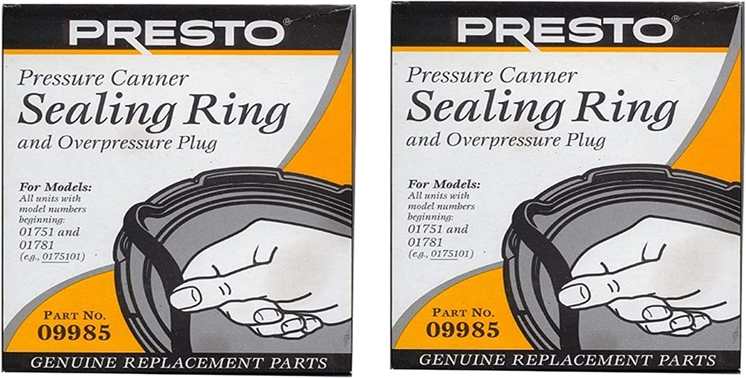 Presto 09985 Pressure Cooker Sealing Ring, Black, 2 Pack