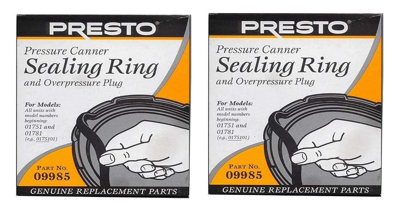 Presto 09985 Pressure Cooker Sealing Ring, Black, 2 Pack