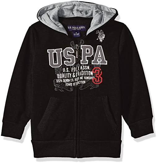 Amazon.com: U.S. Polo Assn. Boys' Fleece Hooded Jacket: Clothing