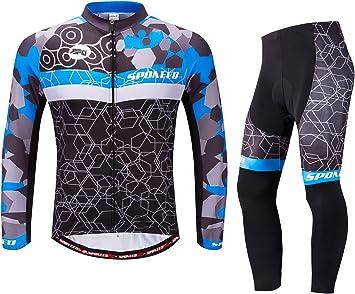 Amazon.com: sponeed traje de manga larga para ciclismo para ...