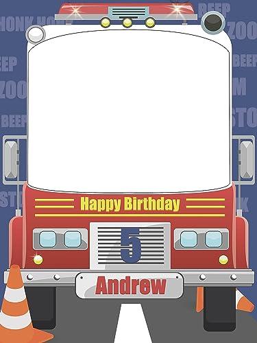 Amazon.com: Custom Fire Truck Photo Booth Prop - sizes 36x24, 48x36 ...
