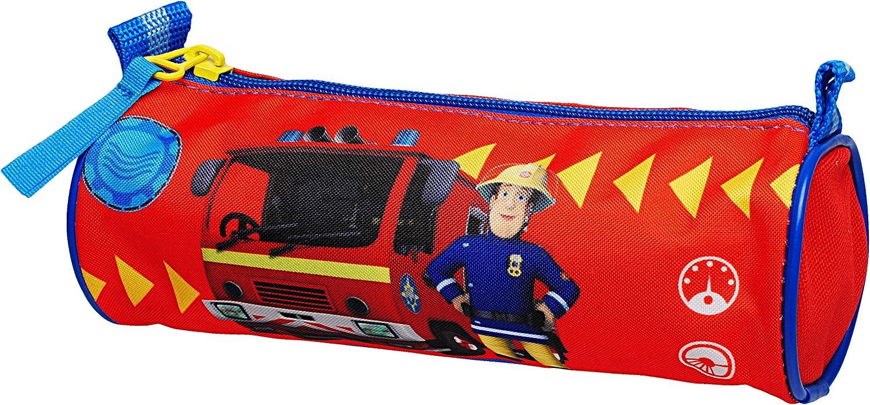 Feuerwehrmann Sam inkl Schlampermappe // Kosmetiktasche Federm/äppchen Fed.. Kulturtasche Federmappe /& Faulenzer Schlamper Etui Stifterolle rund Name