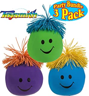 4338a76a Toysmith Moody Face Stress Balls Blue, Green & Purple Gift Set Party Bundle  - 3