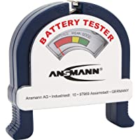 ANSMANN Analogue Battery Tester [Pack of 1] Pocket-Sized Battery Health Check for AA, AAA, C, D, 9V Blocks and Coin…