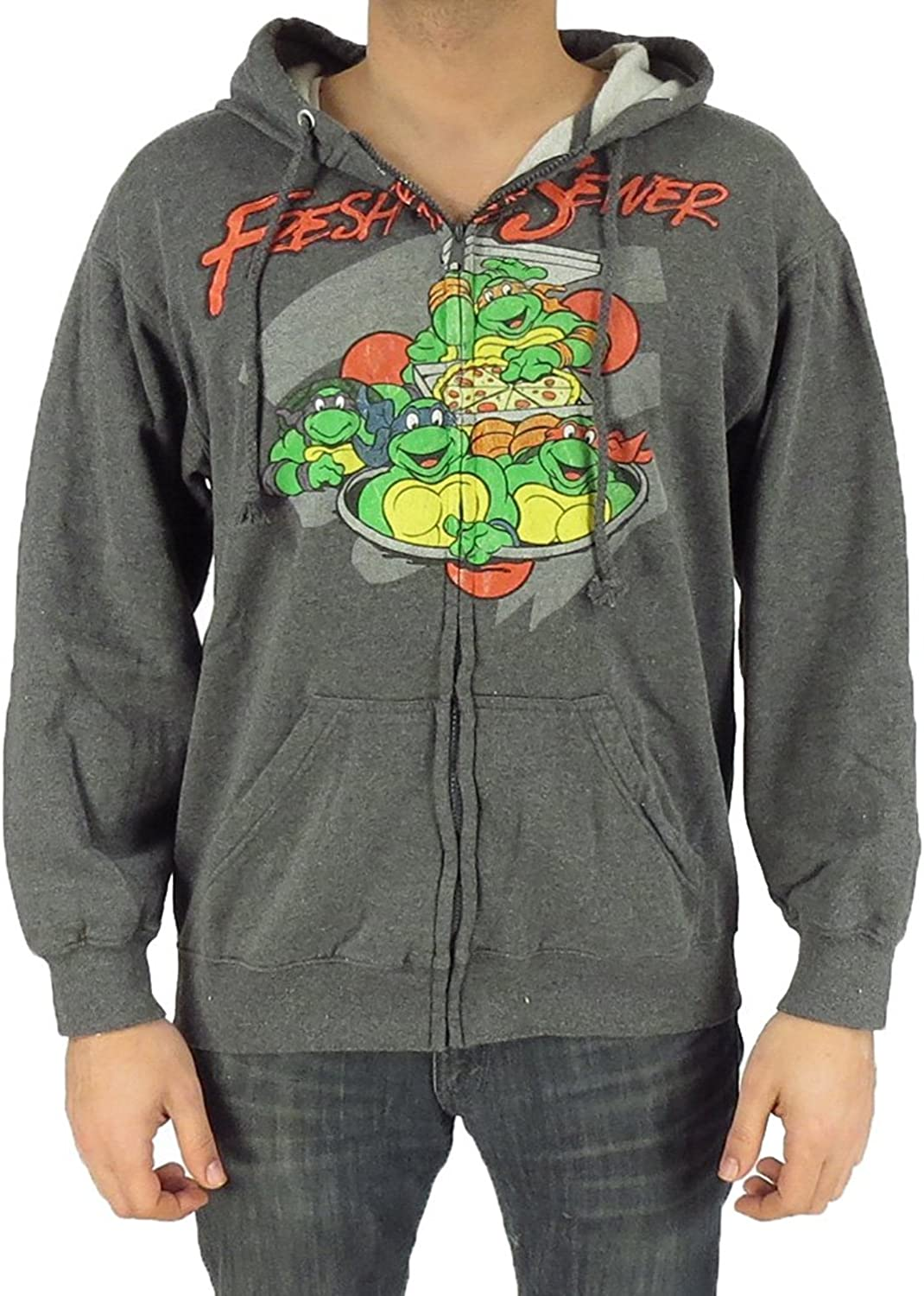 Teenage Mutant Ninja Turtles Fresh From The Sewer Full Zip Hoodie , Charcoal