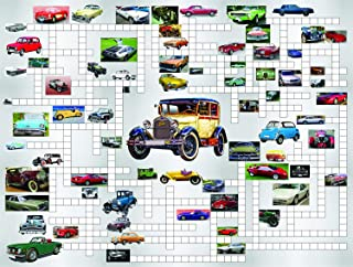 product image for SUNSOUT INC Crossword Jigsaw Combo: Classic Cars 500 pc Jigsaw Puzzle