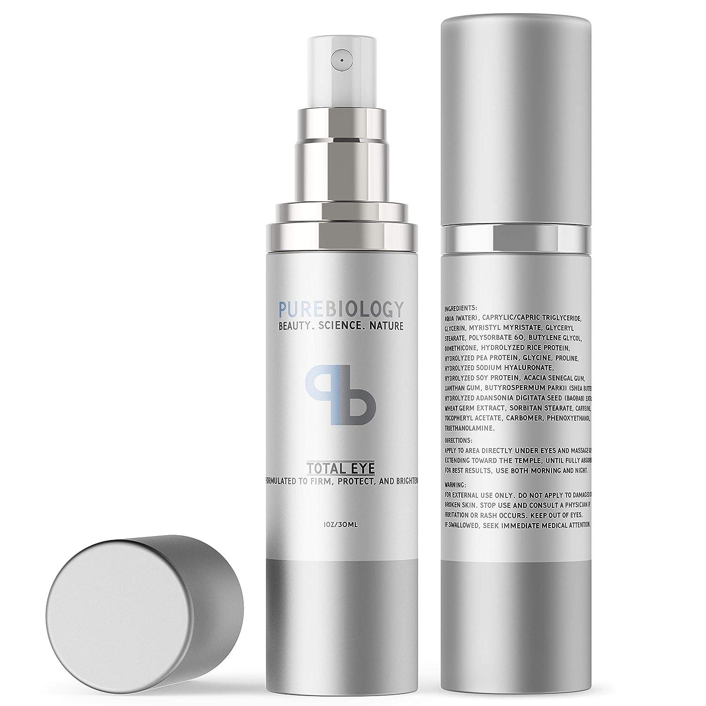 Amazon Com Pure Biology Total Eye Cream With Hyaluronic Acid