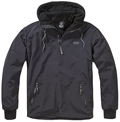 aa6e4bc30 Brandit Men's Luke Windbreaker Jacket, Black (Schwarz), Small