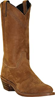 product image for Abilene Men's 12-Inch Cowhide Leather Round Toe Pull On Cowboy Style Ranch Tan Western Boot Brown 11.5 EE US
