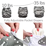 Pacific Neutrals Baby Cloth Pocket Diapers 7