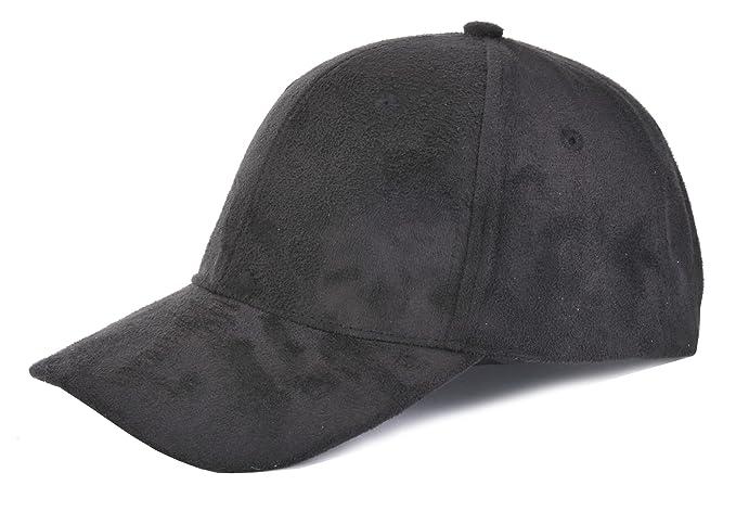 9e364d881 TOP HEADWEAR Suede Baseball Cap - Black at Amazon Women's Clothing ...