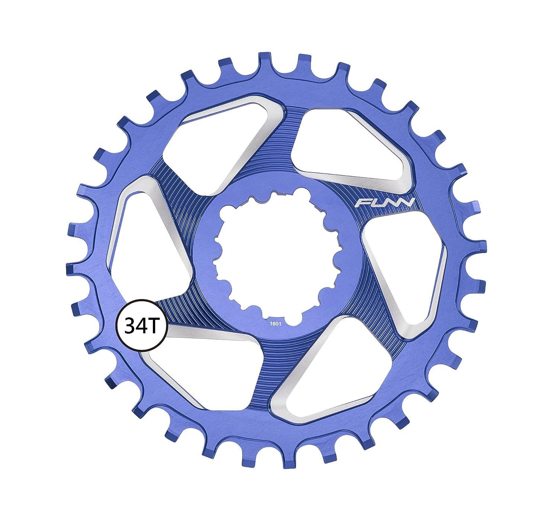 FunnソロDX Narrow Wideチェーンリング34t B076P5S66Y ブルー ブルー