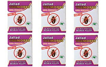Jallad Tremores Powerful BedBugs and Termites Killer Spray Powder - Pack of 6