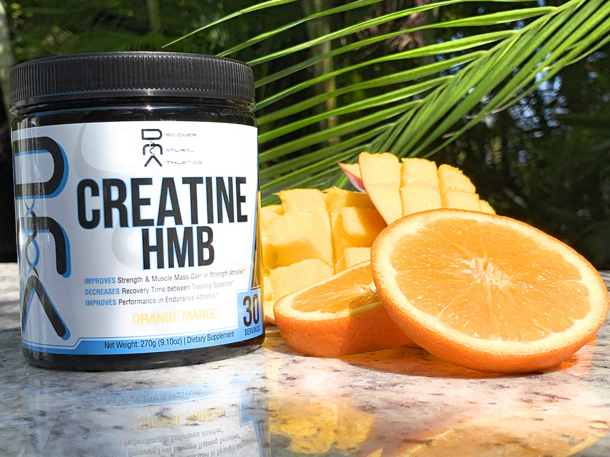 Creatine HMB - Discover Natural Athletics - DNA - Creatine + HMB for Men and Women, Increase Muscle Size and Strength, Improve Workout Recovery - 30 Servings by Discover Natural Athletics