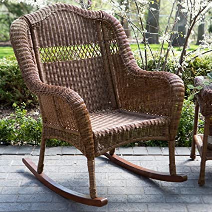 Outstanding Coral Coast Casco Bay Resin Wicker Rocking Chair Caraccident5 Cool Chair Designs And Ideas Caraccident5Info