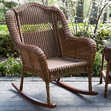 Merveilleux Amazon.com : Coral Coast Casco Bay Resin Wicker Rocking Chair : Garden U0026  Outdoor