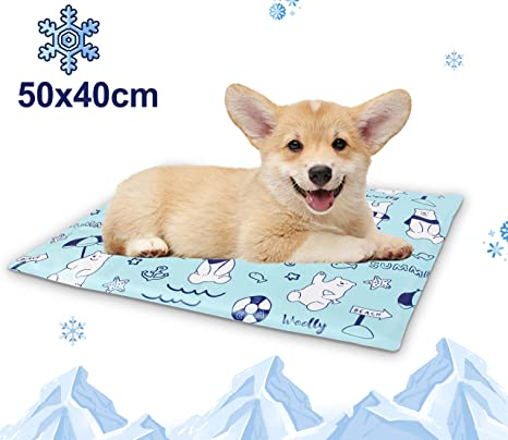 Alfombrilla Refrescante para Perros Manta de Refrigeración para Mascotas - Esterilla Auto Refrigerante Para Perros, Cama Fresca Pequeña para Perros de ...