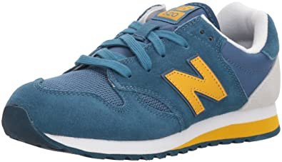 a149a47658 New Balance Boys' 520v1 Sneaker, Blue/Yellow, 13 W US Little Kid