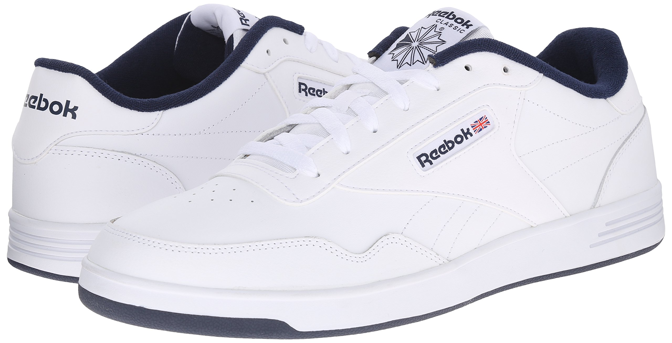 Reebok Men's Club Memt Fashion Sneaker, White/Collegiate Navy, 11.5 4E US