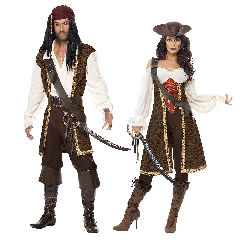 M Bandelier Oberteil Kurze Hose G/ürtel und Kopftuch Smiffys 26224 Herren Hochsee-Pirat Kost/üm