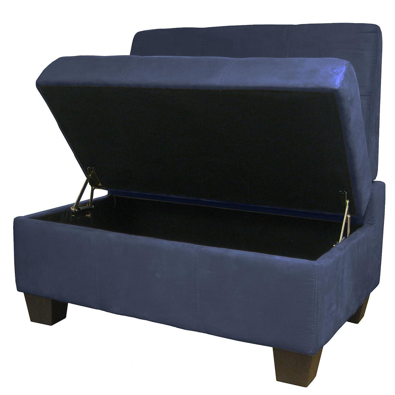 Amazoncom Butler Microfiber Upholstered Tufted Padded Hinged