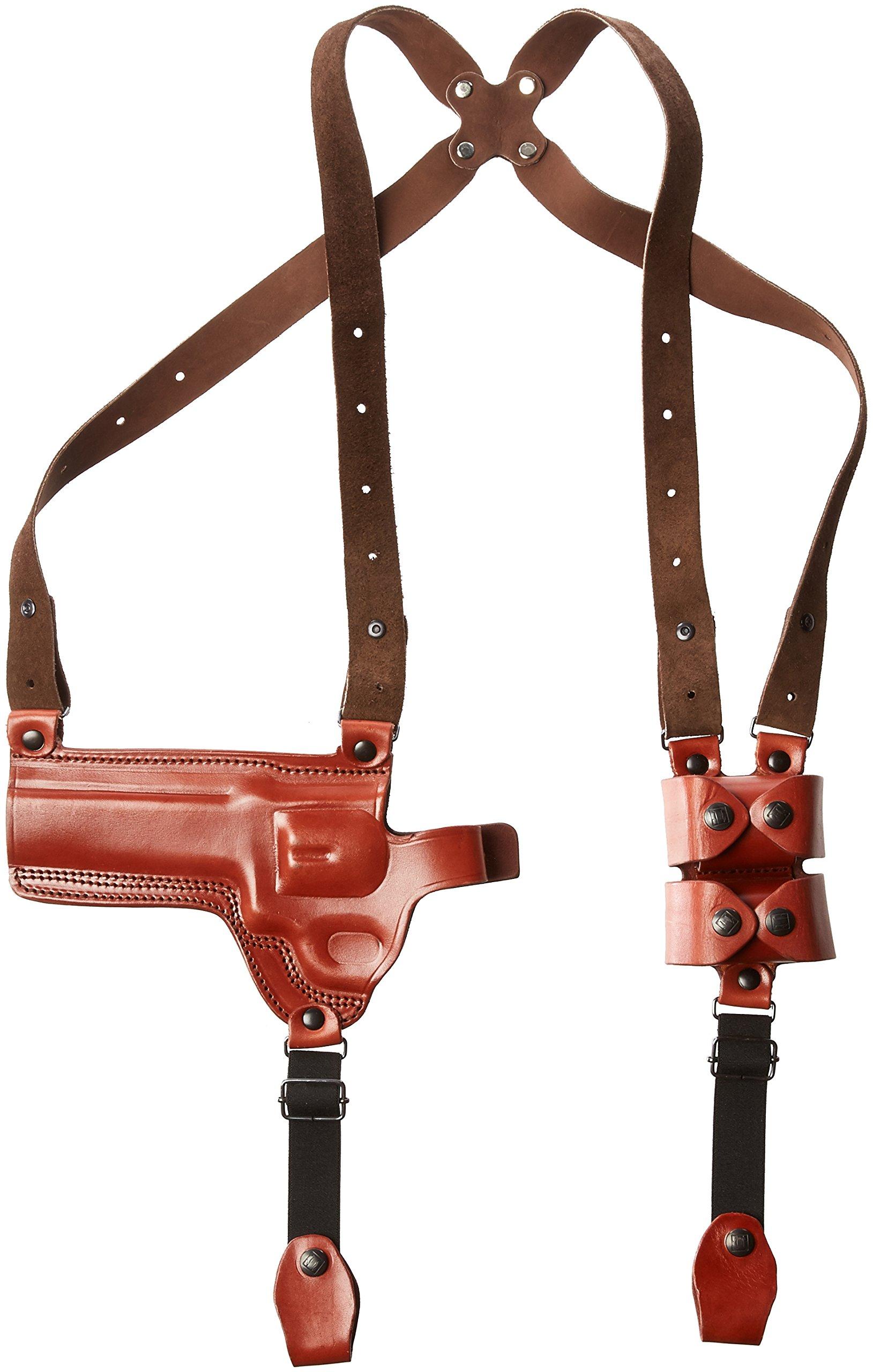 Tagua SH4-963 Full Slide Shoulder Holster, S&W N Frame 6'', Brown, Left Hand