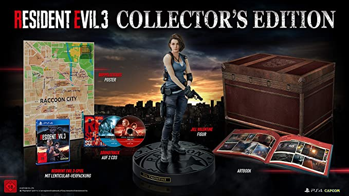 Resident Evil 3 - Collectors Edition - PlayStation 4 [Importación ...