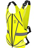 GlowONme Reflective Running Vest - Reflective Gear for Running, Cycling, Jogging, Walking, Outdoor Sports, Motorcycle   Adjustable   Front Zipper   Large Back Pocket For All Phones - for Men and Women