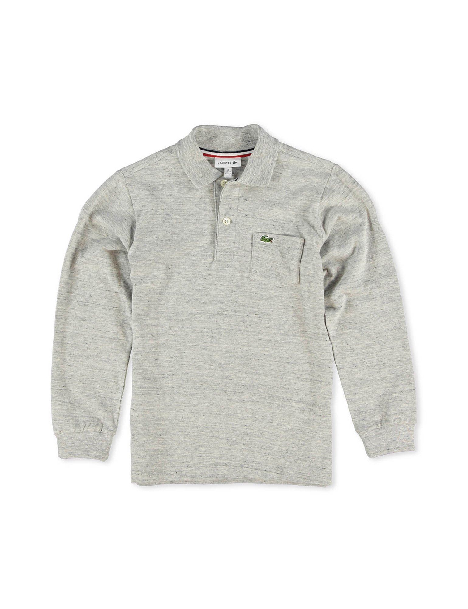 Lacoste Boy's Grey Cotton Long Sleeve Polo in Size 10 Years (140 cm) Grey by Lacoste