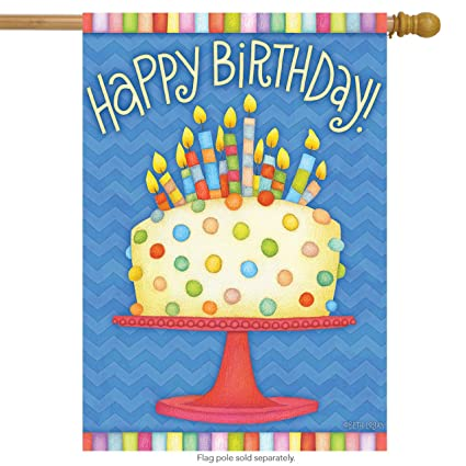 Happy Birthday House Flag Cake Candles 28quot X 40quot