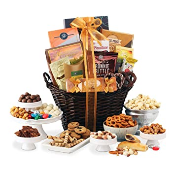 Gourmet Gift Basket of Chocolates, Cookies and Snacks Food Gift Baskets. The Perfect Gift