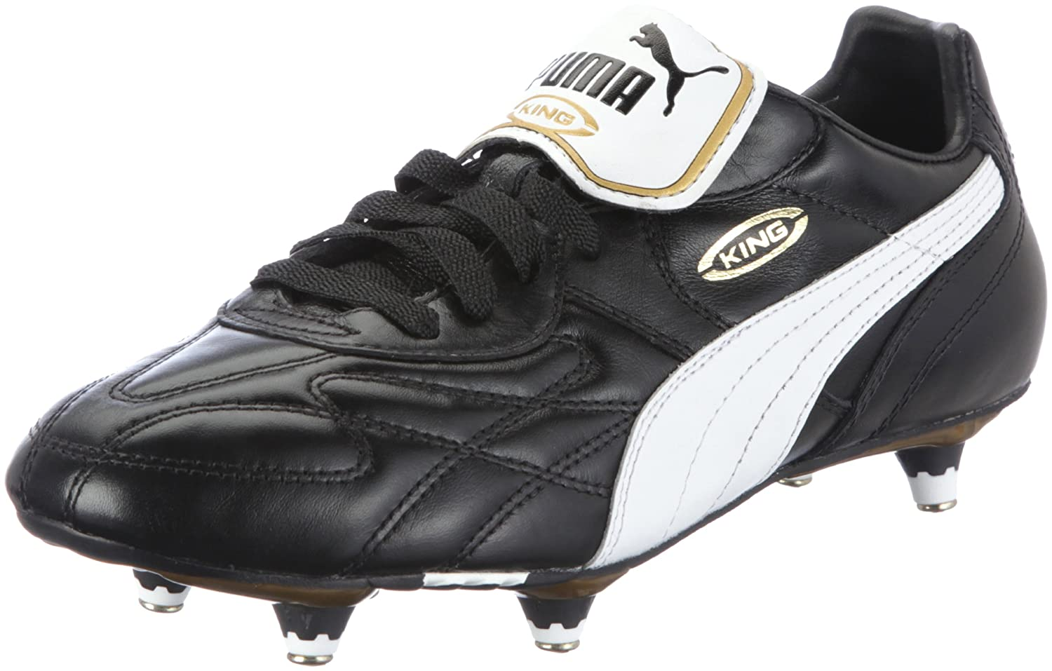 Puma King Pro SG Football Boots (Black-White-Gold) B000G529C6 UK Size 7|Black Black UK Size 7