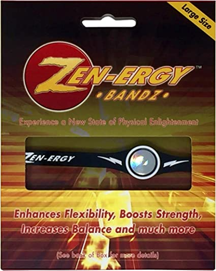 ZEN-ERGY Balance Bands Medium Agility Well Being for Power , Blue Band with White 190mm Strength Focus Positive Energy Flow