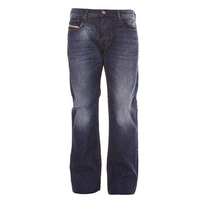 Diesel - Hombre Zatiny Delgado Barco Cut Jeans Azul - Denim ...