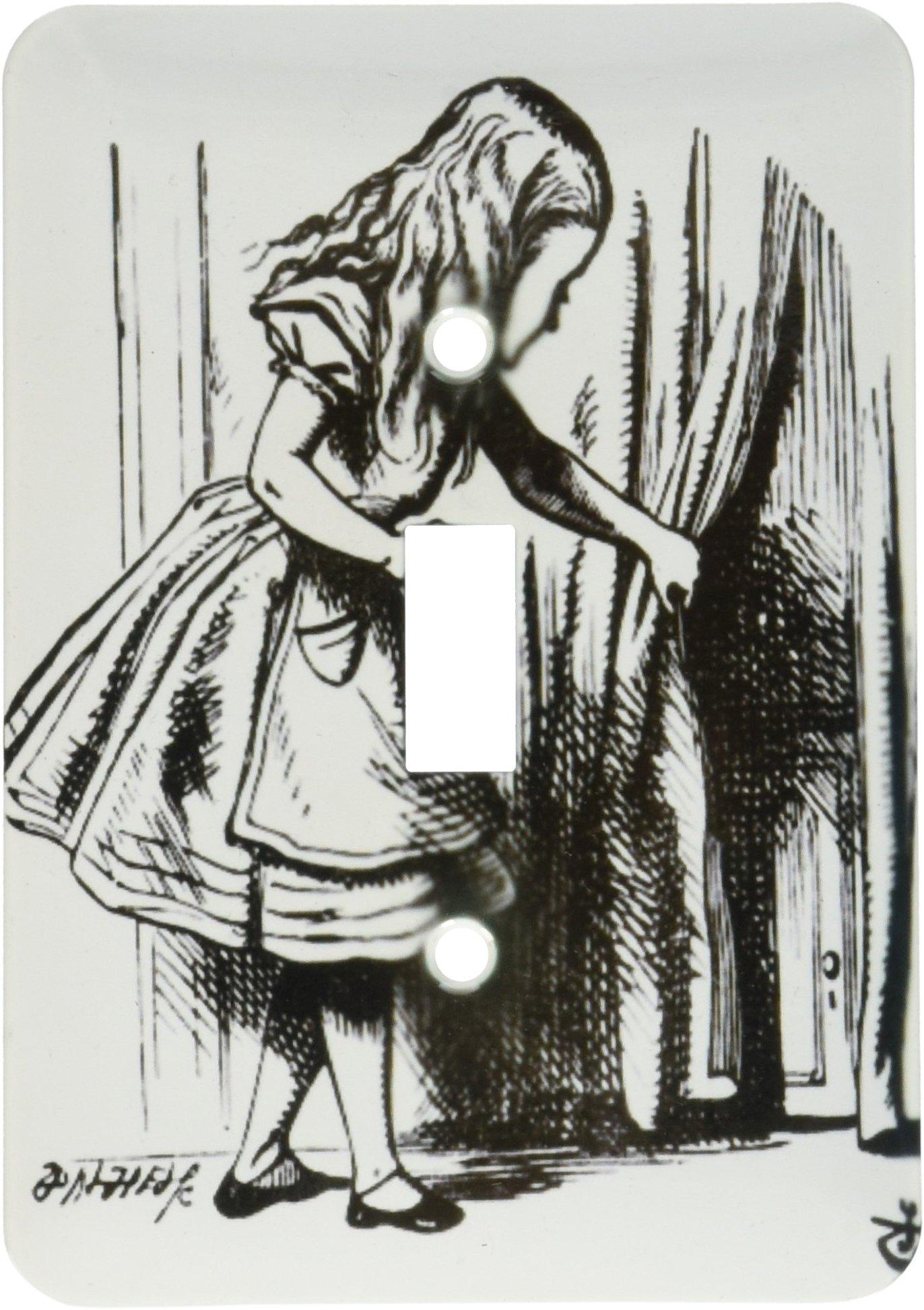 3dRose lsp_193793_1 Alice in Wonderland Key Opening the Door John Tenniel Illustration Single Toggle Switch