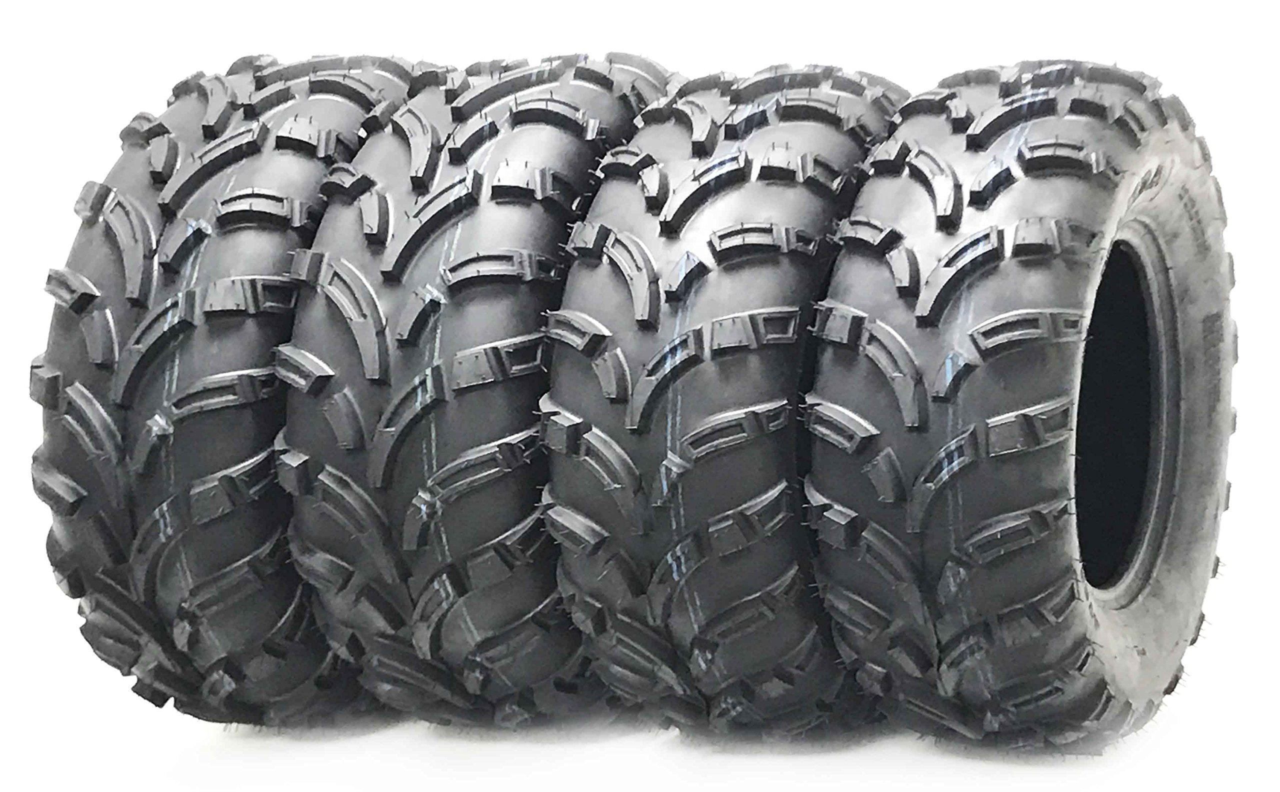 Set of 4 WANDA ATV UTV tires 25×8-12 25X8X12 Front & Rear 6PR P373 …