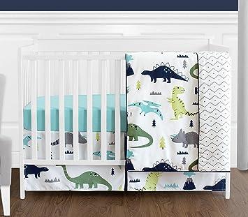 amazon com navy blue and green modern dinosaur baby boys or girls