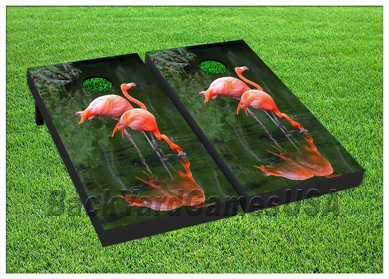 Sensational Amazon Com Cornhole Boards Beanbag Toss Game Pink Flamingos Evergreenethics Interior Chair Design Evergreenethicsorg
