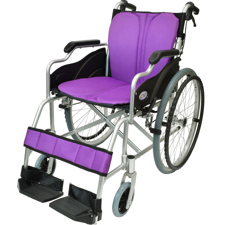 ケアテックジャパン 自走式 アルミ製 折りたたみ 車椅子 ハピネス パープル CA-10SU B00S0OANQO 09 パープル(紫色) 09 パープル(紫色)
