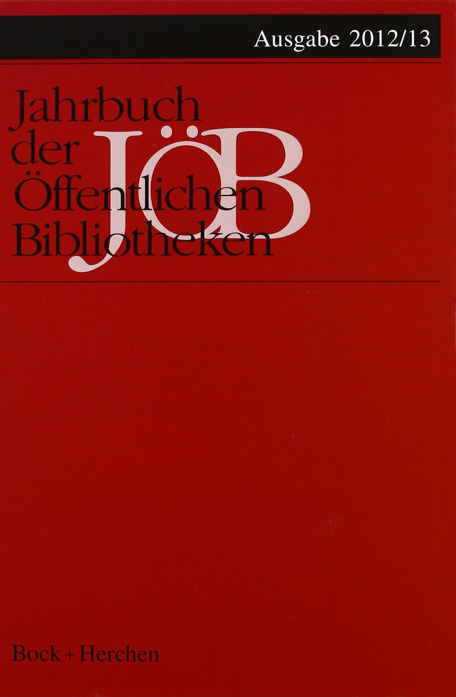 Jahrbuch der Öffentlichen Bibliotheken 2012/13 - JÖB