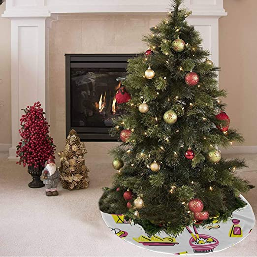 Falda de árbol de Navidad Moda Creativa Cartoo Cocina Wok Imprimir ...