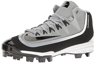 NIKE Mens Huarache 2KFilth Pro Baseball Cleat Wolf Grey Anthracite White Black  Size