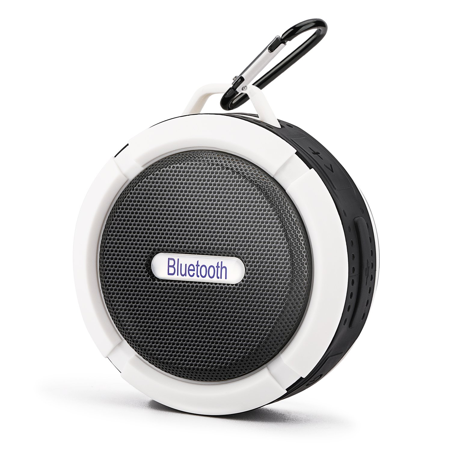 Mini Bluetooth Speaker,Retround Outdoor Speaker with Built-in Mic,High Sound Quality,Waterproof,6hrs of Playtime,Rechargeable,for Travel White